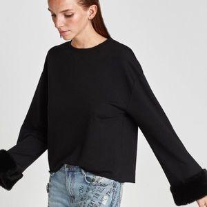 Zara Appliqué Sleeve Top